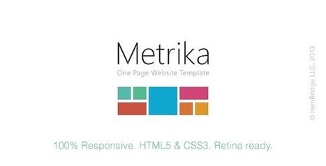 Metrika Responsive OnePage Template RIP Download | PremiumTemplatesDownload | a | Scoop.it