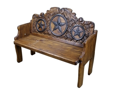 Texas Star Hand Painted Solid Wood Bench | Home Decor | Scoop.it