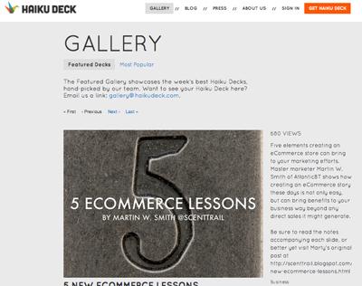 5 New Ecommerce Lessons - Haiku Deck | Ecom Revolution | Scoop.it