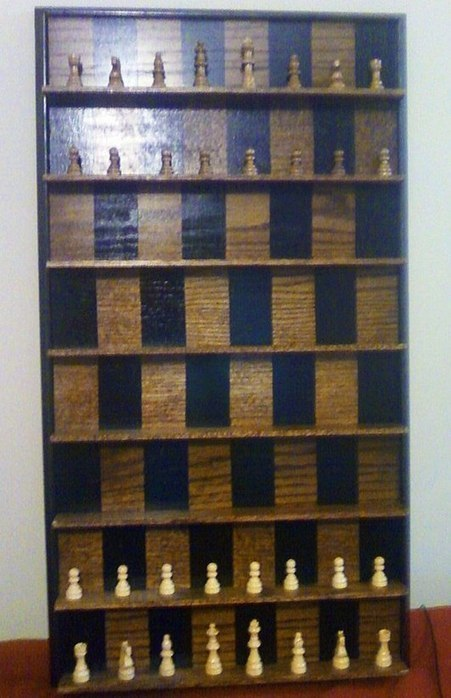 How to Make a Vertical Wall-Mounted Chessboard « Board Games | Chess on the net | Scoop.it