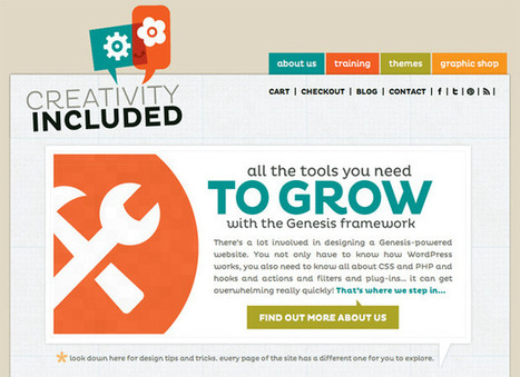 6 Stunning Genesis-Powered Websites | DIY WordPress | Scoop.it