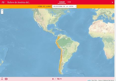 Mapa para jugar. ¿Cómo se llama? Relieve de América del Sur   educación y TICs   Scoop.it