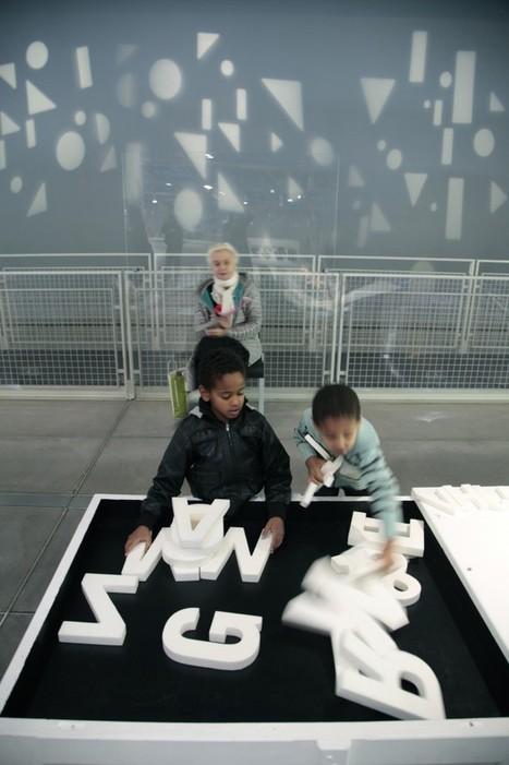 au Centre Pompidou les enfants jouent avec les lettres  | Up culture | Participation culturelle | Scoop.it