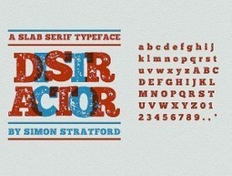 Distractor typeface a new slab font I've been working on - Itsmesimon | i like it | Scoop.it