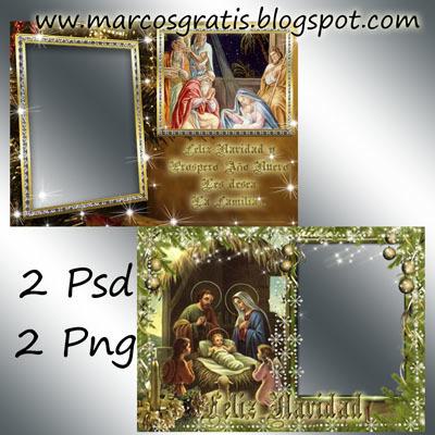 Tarjetas de Navidad con tu Foto. Png y Psd. ~ Marcos para fotos ... | Recursos | Scoop.it