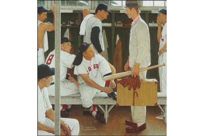 Norman Rockwell's The Rookie (Red Sox Locker Room) to be included in Christie's May Sale of American Art | Art Daily | Kiosque du monde : Amériques | Scoop.it