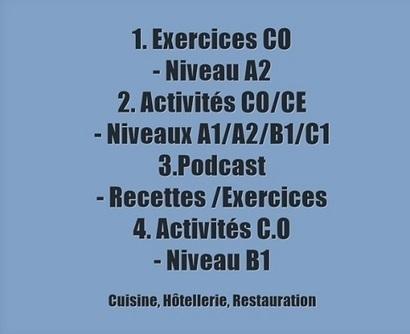 Autour de la gastronomie: Exercices de compréhension écrite/orale ( C.E/C.O ) | Remue-méninges FLE | Scoop.it