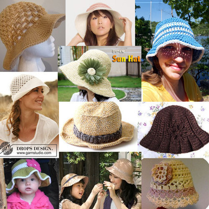 10 Adorable Crochet Summer Hat Patterns | Crochet, Knit, Patterns, and Fiber | Scoop.it