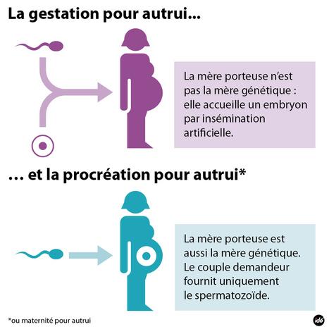INFOGRAPHIE - Gestation et procréation pour autrui : quelles différences ? - france - DirectMatin.fr | Les mères porteuses | Scoop.it