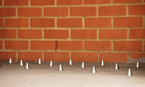 Spikes keep the homeless away, pushing them further out of sight. #defensivearchitecture | The Nomad | Scoop.it