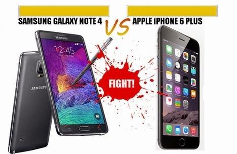 مقارنة بين العملاقين iPhone 6 Plus و Galaxy Note 4   4tecme   Scoop.it