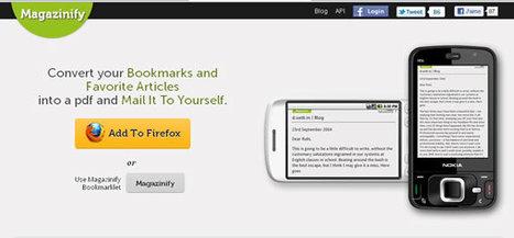 Convertir ses favoris en PDF pour les lire plus tard | VC and IT | Scoop.it