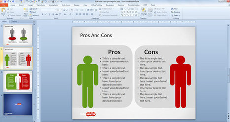 Free Pros & Cons PowerPoint Template - Free PowerPoint Templates - SlideHunter.com   Microsoft Apps   Scoop.it