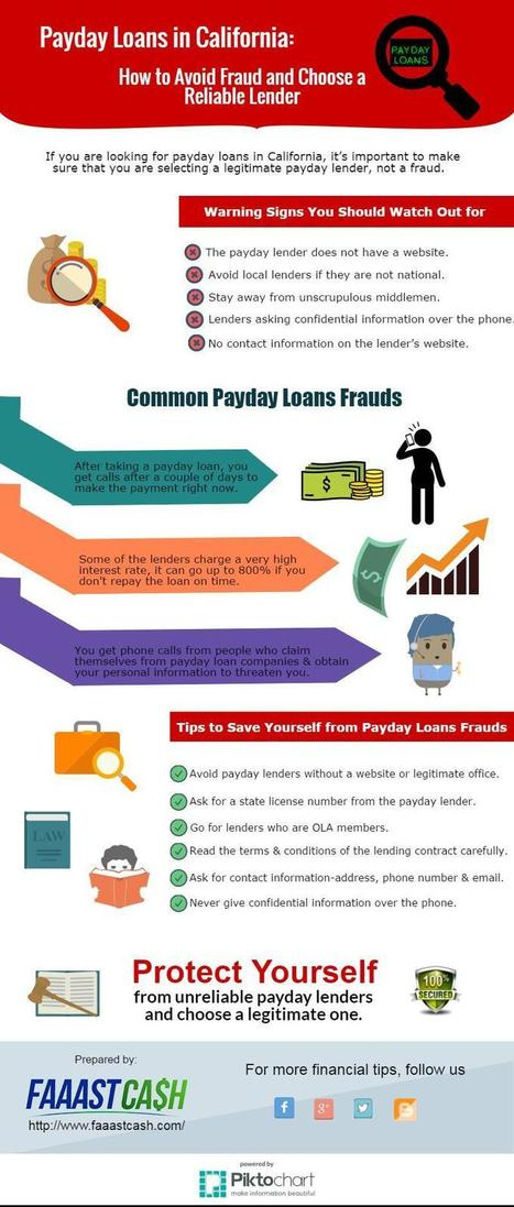 Payday Loans in California: How To Avoid Fraud Reliable | FaaastCash | Payday Loan in California | Scoop.it