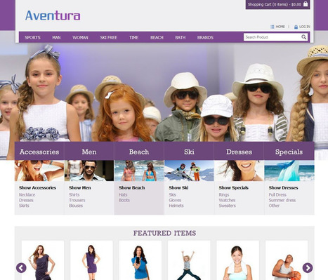 Aventura Opencart Theme Store Specially Designed For Apparel, Clothes Stores : Premium Templates Resources | Premium Web Resources | Scoop.it
