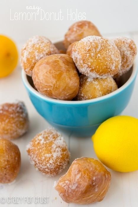 #Desserts #Recipe / Easy Lemon Donut Holes {two ways} | Baking. | Scoop.it