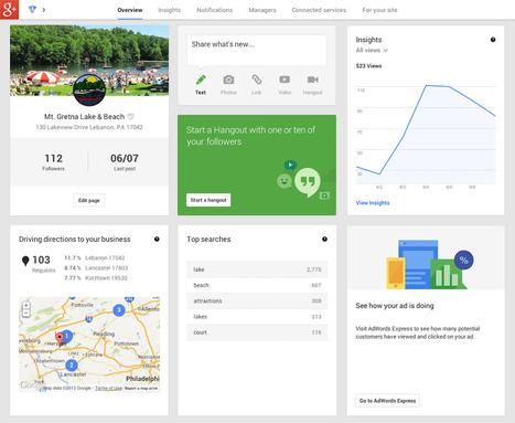 Google+ : Tableau de bord pour gérer sa présence en ligne | Outils & Entreprises | Scoop.it