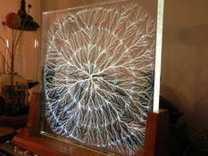 Acrylic fractal art made by bombarding slabs of plastic in a particle accelerator - Boing Boing | e-Expeditions News | Scoop.it