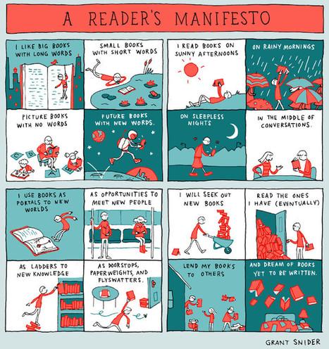 A reader's manifesto (cartoon)   MioBook...Infografiche!   Scoop.it
