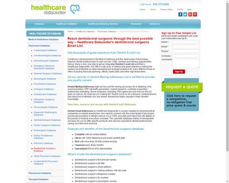Dentist Email List | Oral Surgeons Mailing Addresses from Healthcare Datacenter | Healthcare Datacenter | Scoop.it