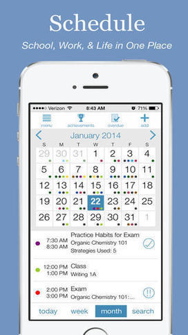 Study Habits: New App Helps Students Get Organized and Motivated   Edudemic   OT mTool Kit   Scoop.it