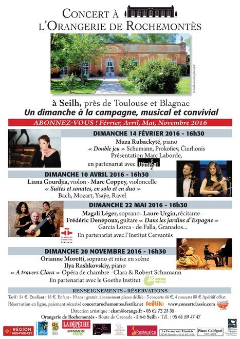 CHANGEMENT DE PROGRAMME  :    Concerts à l'Orangerie de Rochemontès | FOLLE de MUSIQUE | Scoop.it