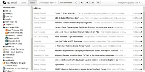 Go Read: Open-Source Google Reader Clone - Matt Jibson's Blog | The World of Open | Scoop.it