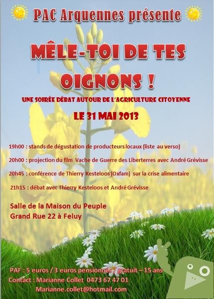 Débat sur l'agriculture citoyenne à Arquennes