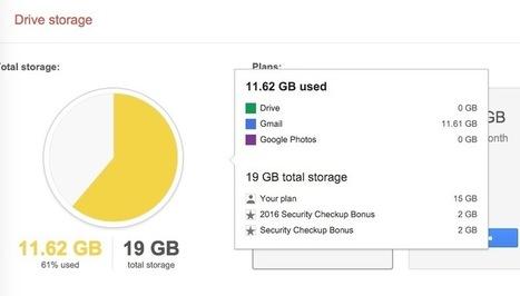 ¿Quieres 2 GB más de espacio gratis en Google Drive? Haz este simple chequeo de seguridad | Recull diari | Scoop.it