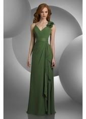 Sheath Column Spaghetti Strap Floor Length Green Bridesmaid Dress Bbbj0038 for $319 | 2014 landybridal wedding party dresses | Scoop.it
