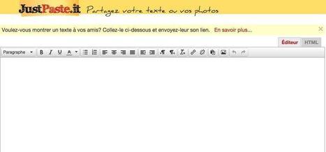 JustPasteit. Créer et partager des notes facilement | Les outils du Web 2.0 | Scoop.it
