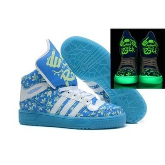 Blue Adidas Originals Glow In the Dark Skull King Shoes For Mens Womens   Comic Nike Dunks   Scoop.it
