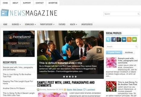 NewsMagazine - Three Column Blogger Template | Blogger themes | Scoop.it