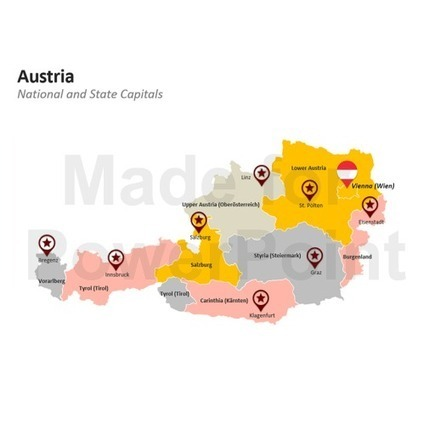 Austria Map | PowerPoint Presentation Tools and Resources | Scoop.it