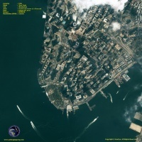 Satellite Image of World Trade Center Towers September 11 Memorial | Geographic Information Technology | Scoop.it