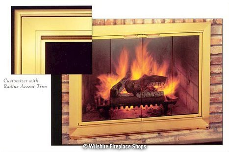 Customizer Radius And Boxed Accent Trim | Fireplace Glass Doors | Scoop.it