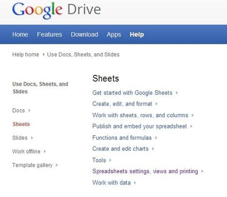 Sheets - Google Drive Help | Antonio Galvez | Scoop.it
