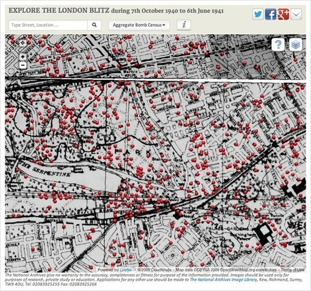 Visualization of the Week: Every bomb dropped in the London Blitz ... | Data science | Scoop.it