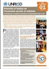 Potentiel et limites de l'économie sociale et solidaire (note d'evenement) | Publications | UNRISD | ESS | Scoop.it