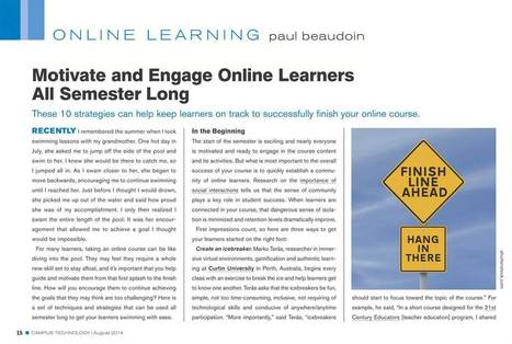 Campus Technology : August 2014, Page 15 | Online Student Engagement in Higher Education | Scoop.it