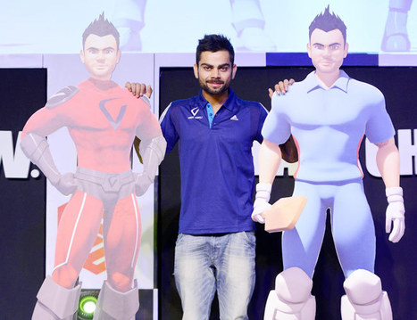 Virat Kohli launched his 3D animated character, website and logo | CG Mantra  - Animation Institute in Delhi | Scoop.it