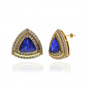 3 Ctw Trillion Tanzanite Earring | Tanzanite Earrings | Scoop.it