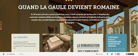 Quand la Gaule devient romaine : magazine interactif de l'INRAP | Enseigner l'Histoire-Géographie | Scoop.it