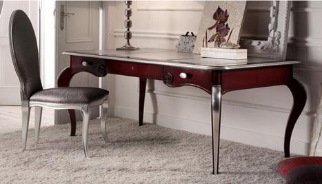 Italian Antique Color Bureau - Writing Desk | Luxury Reproduction French antique furniture | Scoop.it