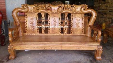 Bộ bàn ghế gỗ phòng khách MS:035 | Bộ bàn ghế gỗ hương tay 12 - Đồ gỗ Chuyền Lộc | Scoop.it