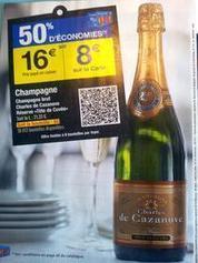 Foires aux vins: Carrefour propose le champagne Charles de Cazanove à 8 € la bouteille | Articles Vins | Scoop.it