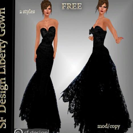 Liberty Gown by sf Design | Teleport Hub | My SL Freebie Fashions | Scoop.it