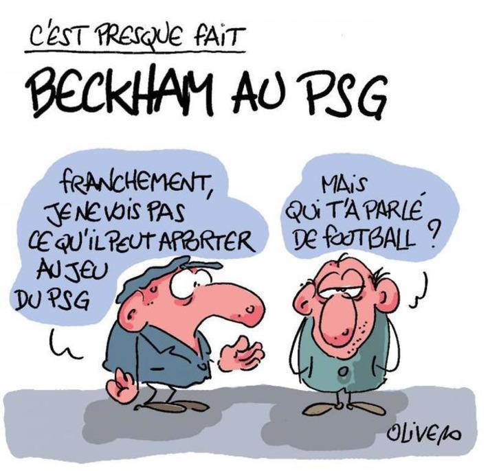 Beckham au PSG, ou l'arrivée d'un vendeur de slips   Baie d'humour   Scoop.it