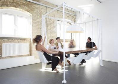 Swing Table: Conference Furniture Sets Meetings in Motion | Designs & Ideas on Dornob | Du mobilier, ou le cahier des tendances détonantes | Scoop.it
