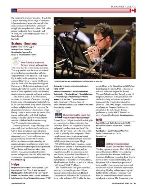 Gramophone (April 2012) Ryan Scott performs Maki Ishii | Difficult to label | Scoop.it